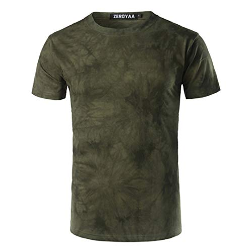 irt Männer/Jungen T-Shirt Homme New Summer Fashion Casual Army Green XL ()