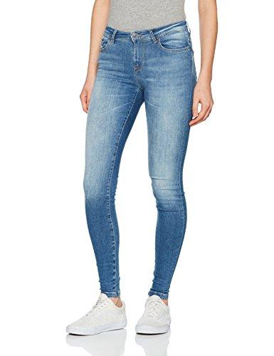 ONLY Damen Skinny Onlshape Reg SK Dnm Jeans REA088 Noos, Blau (Light Blue Denim), W26/L32 (Herstellergröße: 26) (Dunkle Jeans Stonewash)