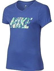 Nike G Nsw Tee Ss Palm Camiseta de Manga Corta, Niñas, Azul (Comet Blue), M