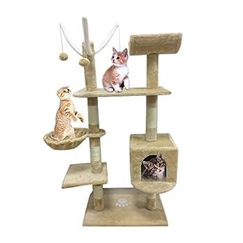 Tatayang de chat Arbre Tour cranté Condo Maison de meubles de maison animaux de compagnie Hamac meubles Pets Maison Hamac de chat Arbre Tour
