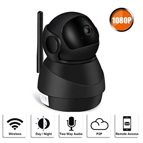 Wireless 1080p security camera wifi home surveillance telecamera ip a due vie audio e visione notturna motion detection per il bambino/anziano/pet/nanny monitor