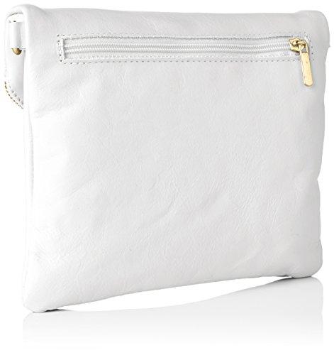 Bags4Less Damen Dubai Clutch, 4x19x22 cm Weiß (Weiss)