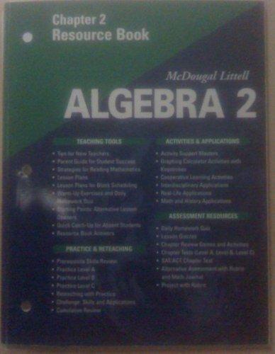 McDougal Littell Algebra 2: Resource Book: Chapter 2
