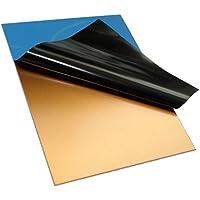 AERZETIX: 2x Placas tablas hojas de cobre para circuito impreso 100/75/1.5mm FR4 resina epoxi de fibra de vidrio C19016
