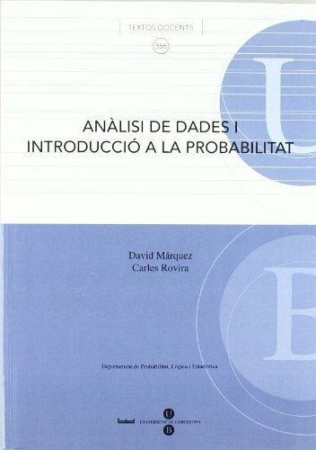 Analisi De Dades I Introduccio A