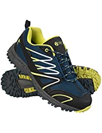 Mountain Warehouse Zapatillas de Correr Impermeables Enhance para Hombre - Zapatillas Informales Transpirables, Suaves,