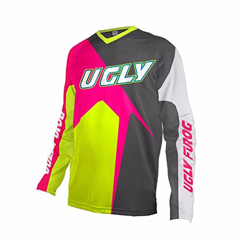 Uglyfrog 2018 New Bike Wear Herren Downhill/MTB Jersey Mountain Bike Shirt Fahrradtrikot Langarm Freeride BMX Fr¨¹hling Top
