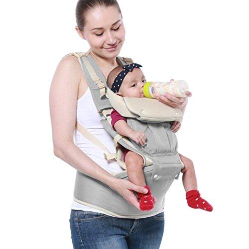 Imagen de portabebés ergonómico, 4 en 1 portador bebé  portabebé de 0 a 20 kg gris  alternativa
