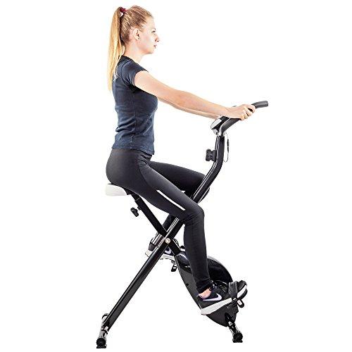Techfit XB200 F-Bike, 2,5 kg Schwungrad, Magnetisches Heimtrainer, Ergometer, Einziehbares Trainingsrad, Erholungsrad, Cardio-Maschine
