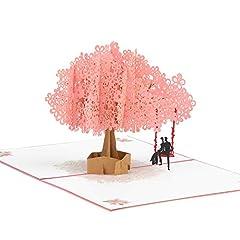 Idea Regalo - KATELUO Biglietto Auguri Matrimonio Pop Up 3D,Fiore di Ciliegio,Blossom Card Anniversary Card, carta di San Valentino, carta di nozze (type2)