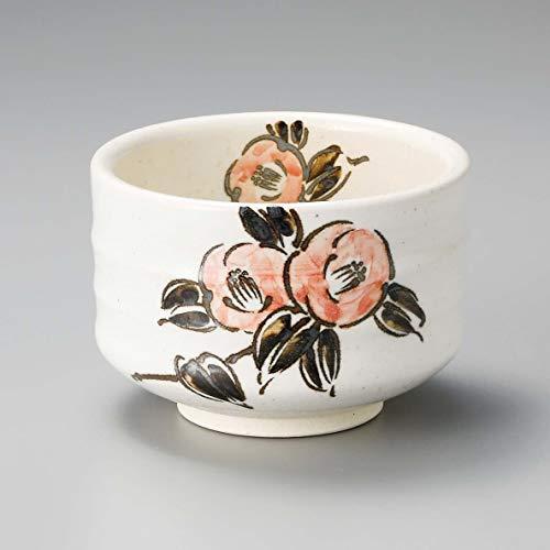 Yamakiikai Japanische Teetasse Matcha Schale Camellia Muster L1422 aus Japan - Japan-muster