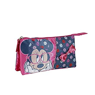 Minnie – Portatodo con 3 bolsillos, color azul (Cerdá 2100000549)