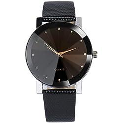 WINWINTOM Luxury Quartz Sport Military Leather Band Wrist Watch