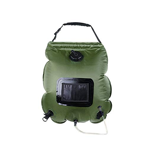 CDKJ 20L (5,3-Liter) tragbare Außendusche Tasche Solardusche Dudelsäcke durch einen abnehmbaren Duschkopf mit Strom versorgt und ausschalten Schaltbare Strand, Schwimmen, Tourismus.