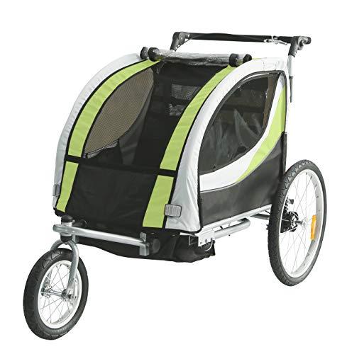 TIGGO World Kinderfahrradanhänger Fahrradanhänger Jogger 2in1 Anhänger Kinderanhänger JBT03N-D02 902-D02