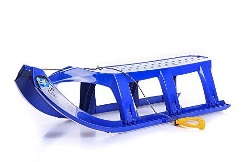 Schlitten Kinderschlitten Rodel aus Kunststoff Zugseil Metallkufen Tatra 3 Farben (Blau)