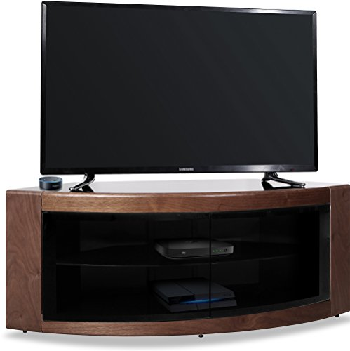 Homeology Pangea TV-Schrank für Beam-Thru (81-55 Zoll), gebogen walnuss