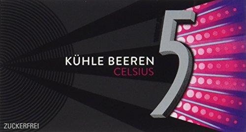 Preisvergleich Produktbild Wrigley's 5 Gum Celsius Kühle Beeren,  15er Pack (15 x 24 g)