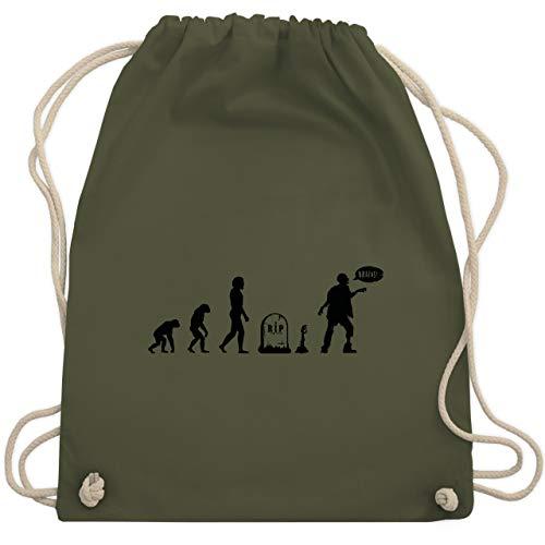 Evolution - Zombie Evolution - Unisize - Olivgrün - WM110 - Turnbeutel & Gym Bag