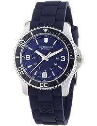 Victorinox Swiss Army Maverick 241610 - Reloj analógico de cuarzo para mujer, correa de goma color azul (agujas luminiscentes)