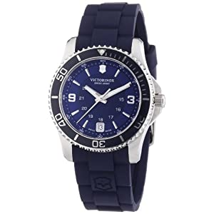 Victorinox Maverick Small Cuarzo – Reloj (Reloj de Pulsera, Femenino, Acero Inoxidable, Azul, Acero Inoxidable, Caucho, Azul)