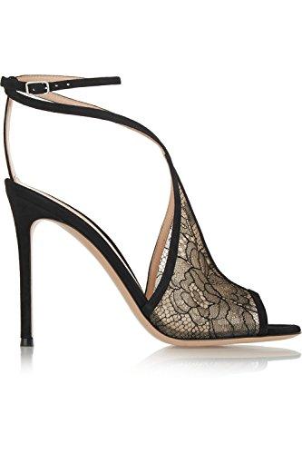 Shoemaker's heart New ladies' Fashion sandali Sexy retro nero tacchi alti fibbia Thirty-nine