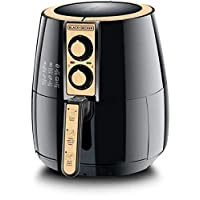 Black+Decker 4 Liter Air Fryer 1.2Kg Performance Range AerOfry, Black/Gold - AF300-B5