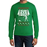 Ugly Xmas Sweater Walking Dad Weihnachts Langarm Shirt Herren Langarm T-Shirt Medium Grün