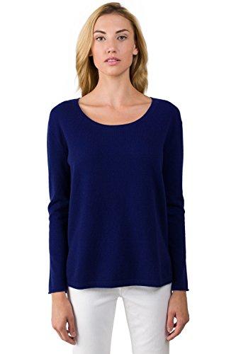 J CASHMERE Damen Pullover Gr. M, Blau - Mitternachtsblau (Crew J Cashmere-pullover)