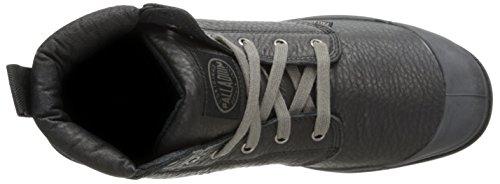 Palladium Pampa Hi Cuff Lea Herren Desert Boots Schwarz (Black/Metal 068)