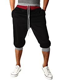 HEMOON Homme Pantalon de jogging/sports Sarouel Short
