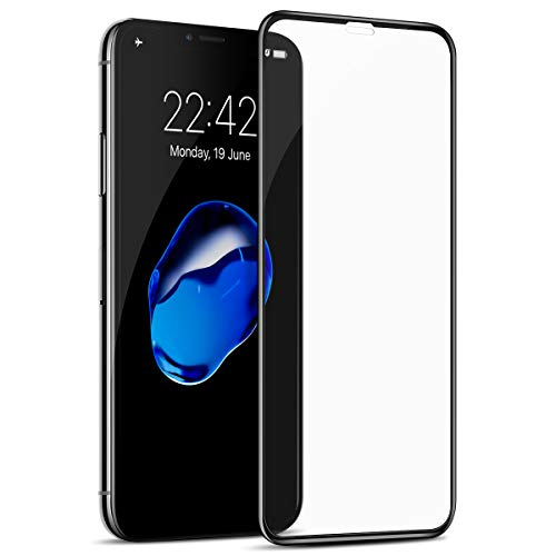 Tasikar Cristal Templado Compatible con iPhone X/iPhone XS con Easy Installation Tool Cobertura Completa a Prueba de Polvo Cristal Templado Protector Pantalla