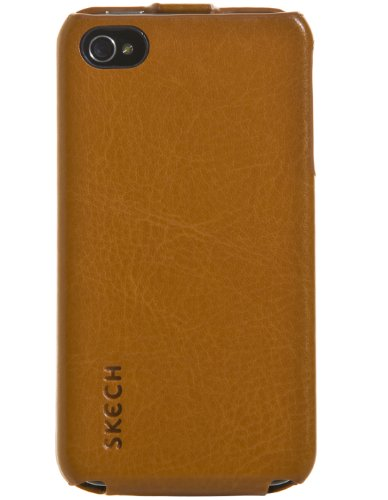 Skech iPH4-CJF-TAN Custom Jacket Flip Étui à rabat vertical pour iPhone 4/4S Tan Tan