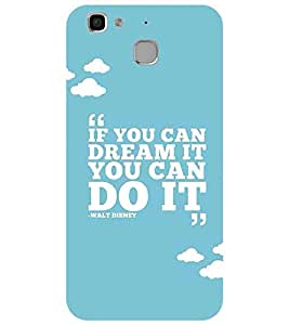 For Huawei Enjoy 5 if you can dream it you can do it, good quotes, blue background Designer Printed High Quality Smooth Matte Protective Mobile Case Back Pouch Cover by APEX