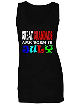 LOS GRANDES GRANDADES SON NACIDOS EN JULIO DIVERTIDO camiseta sin mangas mujer w74ft