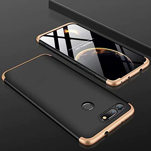 MYLB Funda Samsung Galaxy J7 Duo, Estuche rígido Desmontable para PC de protección del Cuerpo de 360 Grados [3 en 1] Desmontable, Adecuado para Samsung Galaxy J7 Duo (Oro)