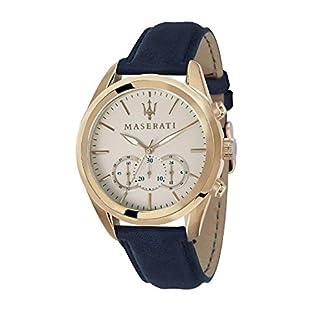 MASERATI Reloj Cronógrafo para Hombre de Cuarzo con Correa en Cuero R8871612016