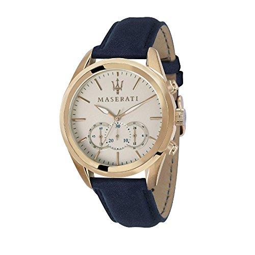 MASERATI Orologio Cronografo Quarzo Uomo con Cinturino in Pelle R8871612016
