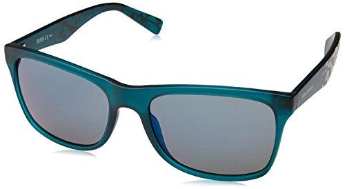 BOSS Orange Herren 0211/S 23 Sonnenbrille, Grün (Matte Green Graph/Blue Grey Speckled), 56