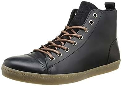 Jack & Jones Jj Brother Leather Casual High Prm, Baskets mode homme - Noir (Black), 44 EU