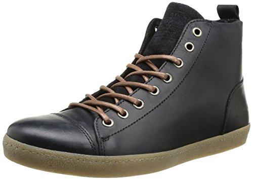 JACK & JONESJj Brother Leather Casual High Prm - Sneaker alta Uomo , Nero (Nero (nero)), 44