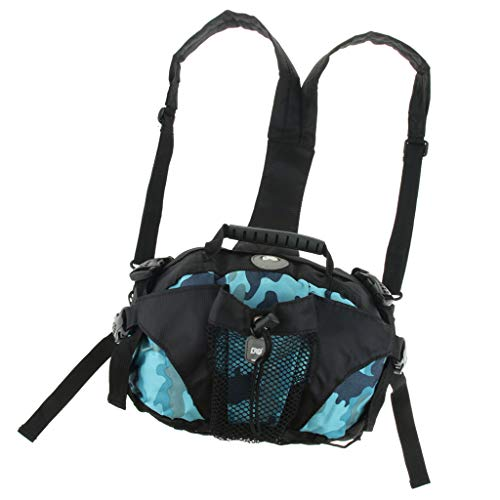 Baoblaze Polyester Schlittschuhe Tasche Rollschuhetasche Rollschuhe Tragetasche für Männer, Frauen, Kinder - Blaue Camouflage