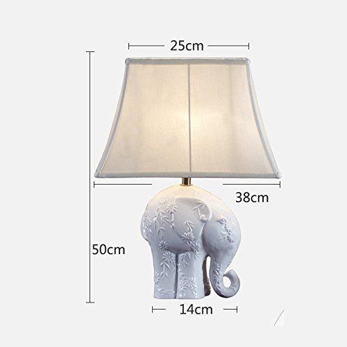 NAUY- Simples niños creativos lámpara de mesa de elefantes de cerámica de...