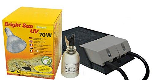 70w Vorschaltgerät (Lucky Reptile - Bright Sun UV Desert 70 W Komplettset, Metalldampflampe inklusive passende Fassung und Vorschaltgerät)
