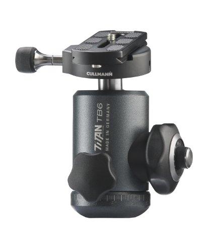 Cullmann Titan TB6.6 Rotule professionnelle + système d'accouplement rapide Charge max. 25 kg pour DSLR appareil photo numérique reflex moyen format pour Canon Nikon Sony Hasselbad Leica