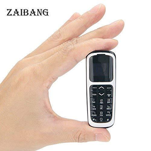 lefon Kleinste Bluetooth Telefon 3 in 1 entsperrt Micro SIM Telefon + Bluetooth Dialer + Kopfhörer 99,9% Kunststoff Boss Telefon Micro SIM Karte 2G GSM (weiß) ()