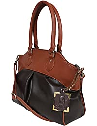 Nekstyle Casual Black And Brown Hangbag For Women