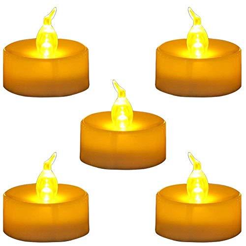 WESEEDOO Bougies LED Lot de 12PCS Bougies Lumi/ères De Th/é /à Piles sans Flamme /Électriques R/éaliste Et Bright Fausses De Aliment/é par Lampe d/'Ambiance D/écoration