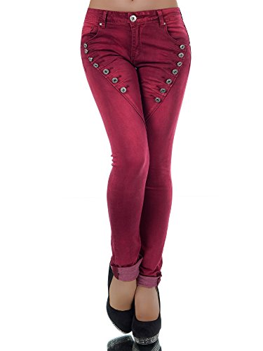 Diva-Jeans -  Jeans  - skinny - Basic - Donna bordeaux XS/40