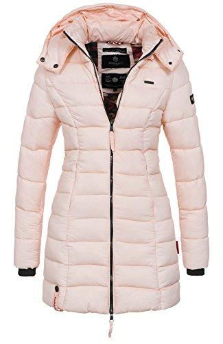 Marikoo Herbst Winter Übergangs Steppmantel Jacke Mantel gesteppt B603 [B603-Rosa-Gr.L]